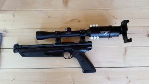 Gosky Adapter mounted to a Crosman 1322
